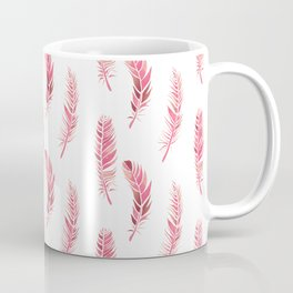 Watercolour Feathers - Coral, Blush and Rose Gold Coffee Mug