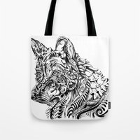 dreamer Tote Bags featuring Dreamer by René Campbell