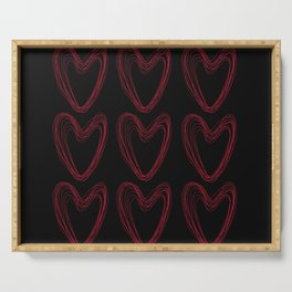 Red Hearts Serving Tray