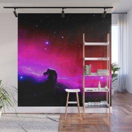 Galaxy : Horsehead nEbUlA Pink Red Purple Wall Mural