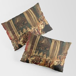 Consecration of the Emperor Napoleon and the Coronation of Empress Josephine In Notre-dame De Paris, 1804 by Jacques Louis David Pillow Sham
