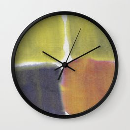 Dyed Color Squares #1 Wall Clock