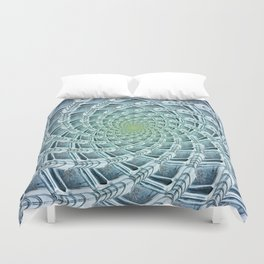 Phyllotactic Ice Duvet Cover