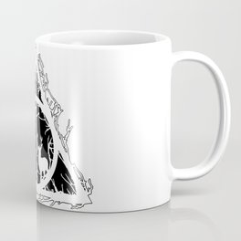 Deathly Hallows - brenches and stag - voids and silhouette (black) - Expecto Patronum | potterheads Coffee Mug