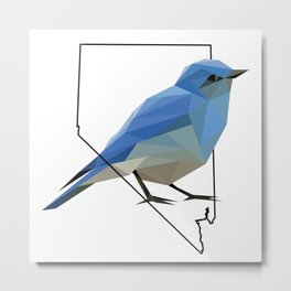 Nevada – Mountain Bluebird Metal Print
