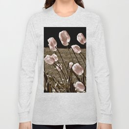 Pink Tulips and Moonlight Long Sleeve T-shirt