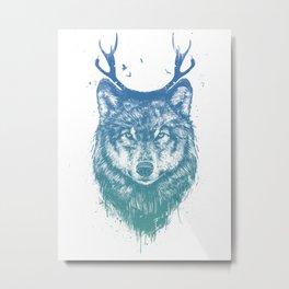 Deer wolf Metal Print