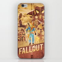 fallout iPhone & iPod Skins featuring FALLOUT FAN ART by Salty!