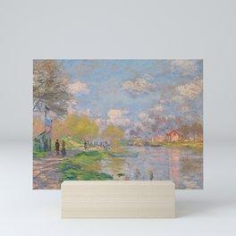 """Claude Monet """"Spring by the Seine"""" Mini Art Print"""
