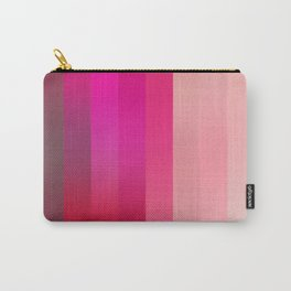 Raspberry Stripe Carry-All Pouch