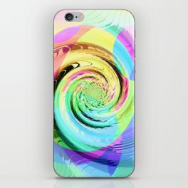 Re-Created Twisters No. 8 by Robert S. Lee iPhone Skin