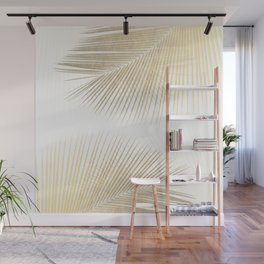 Palm leaf synchronicity - gold Wall Mural
