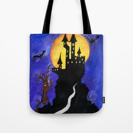 Haloween Castle Tote Bag