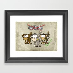 Protest Monkeys Framed Art Print