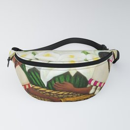 Vendedora de Alcatraces - Calla Lily Flower Sellers by Diego Rivera Fanny Pack