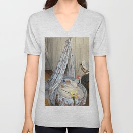 Claude Monet - The Cradle. Camille with the Artist's Son Jean Unisex V-Neck