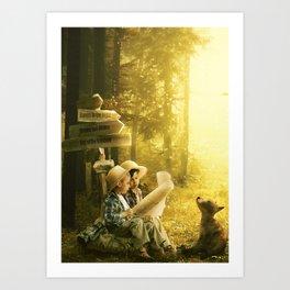 Wondering in the Woods Art Print