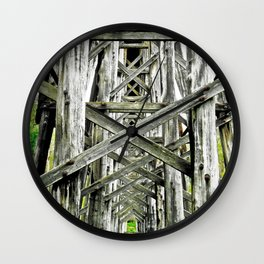 Train of Lines. Wall Clock