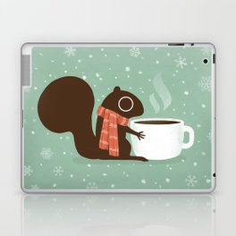 Squirrel Coffee Lover Holiday Laptop & iPad Skin