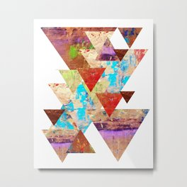 More than gold triangles Metal Print
