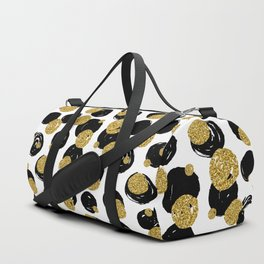 Golden and Black Dots Pattern Duffle Bag