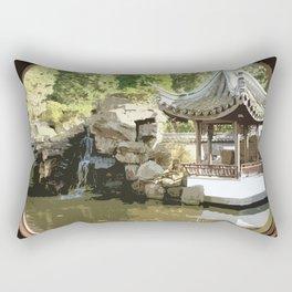 Japanese Tea Garden Rectangular Pillow