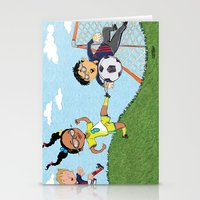 soccer Stationery Cards featuring Soccer by sheena hisiro
