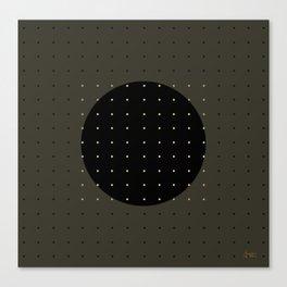 """""""Grey & Polka dots central circle pattern"""" Canvas Print"""