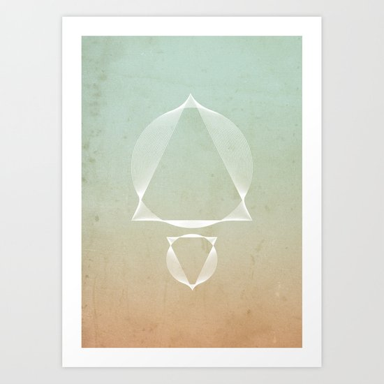 North and South - abstract scene Art Print
