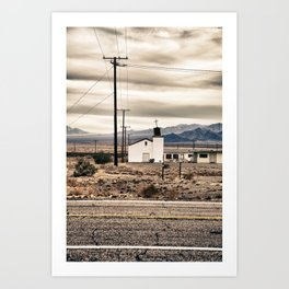 The Lonely Church Art Print