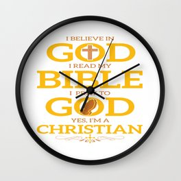 Funny Jesus Bible God Christian Quote Meme Gift Wall Clock