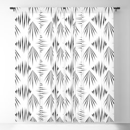 Black and white pattern Blackout Curtain