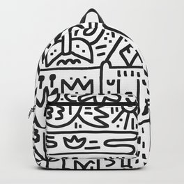 Camping Hand Drawn Illustration Backpack