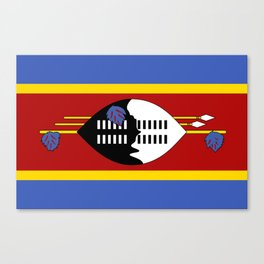 Swaziland Flag Canvas Print