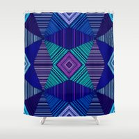 tapestry Shower Curtains featuring Tapestry  by Truly Juel