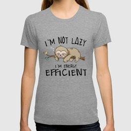 Sloth energy lazy Sleeping Tired sweet gift T-shirt