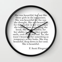 fitzgerald she was beautiful Wall Clock