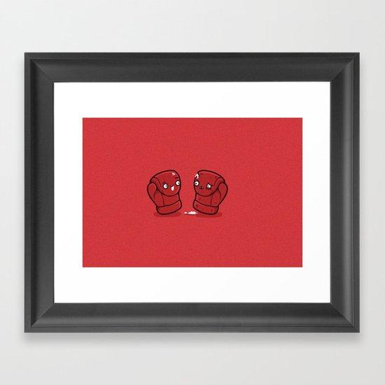 Boxing gloves Framed Art Print