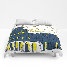 Rome Italy Colosseum Starry night Comforters
