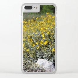 Brittle Bush At ... Wildlife Preserve Clear iPhone Case