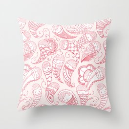 Ghostly Paisley: Bloodlust Throw Pillow