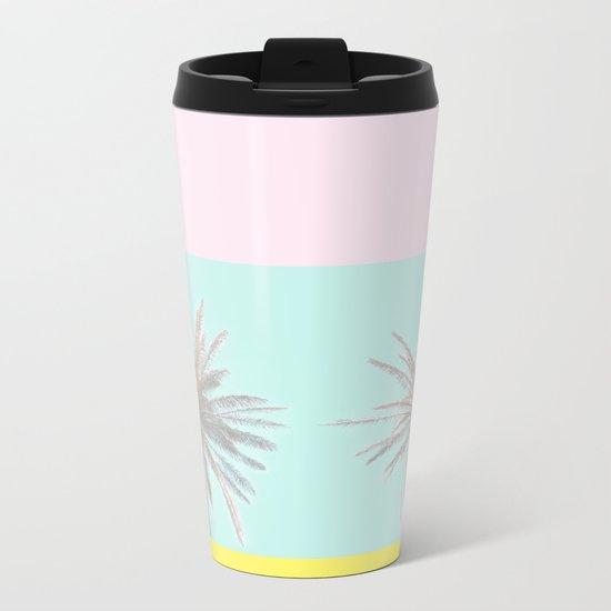 Pastel Candy Palm Metal Travel Mug