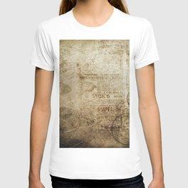 Antique Vintage Worn Decor Paper T-shirt
