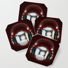 Headphone disco ball Coaster