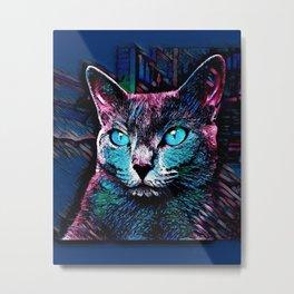 CAT COLORFUL Metal Print