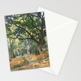 The Bodmer Oak, Fontainebleau Forest (1865) by Claude Monet Stationery Cards