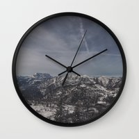 the mountains are calling Wall Clocks featuring The mountains are calling by UtArt