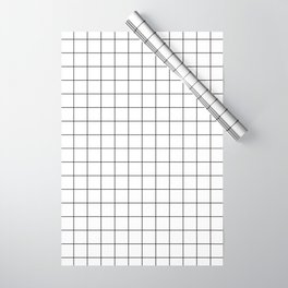 Grid Simple Line White Minimalist Wrapping Paper