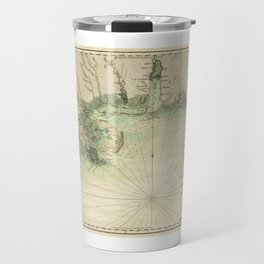 Map of Louisiana and Florida Gulf Coast (1778) Travel Mug