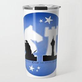 KNIGHT ROOK (Blue) Travel Mug